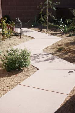 Decorative Concrete Walkway